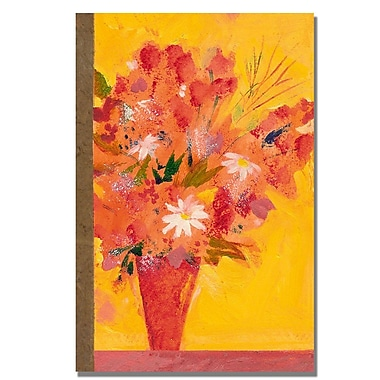 Trademark Fine Art Shelia Golden 'Bouquet with Yellow' Canvas Art 22x32 Inches