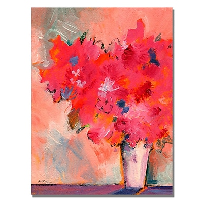 Trademark Fine Art Shelia Golden 'Contemporary Floral' Canvas Art 18x24 Inches