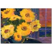 Trademark Fine Art Sunset Sunflowers by Sheila Golden-Ready to Hang