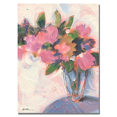 Trademark Fine Art Shelia Golden 'Pink Floral Reverie' Canvas Art 18x24 Inches