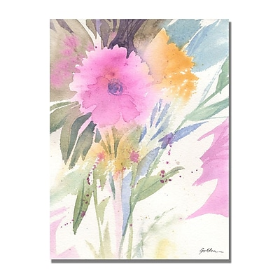 Trademark Fine Art Shelia Golden 'Deep Pink Haze' Canvas Art 24x32 Inches