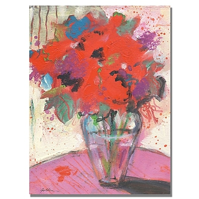 Trademark Fine Art Shelia Golden 'Scarlet Bouquet' Canvas Art 35x47 Inches