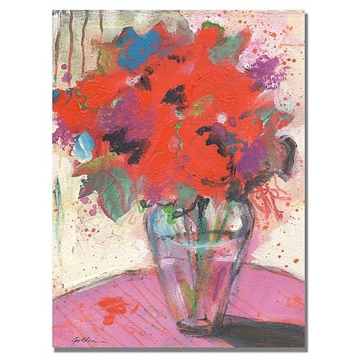 Trademark Fine Art Shelia Golden 'Scarlet Bouquet' Canvas Art 26x32 Inches