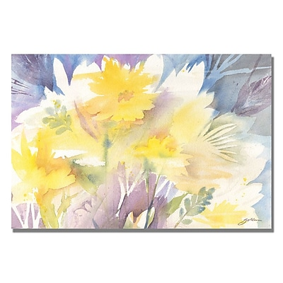 Trademark Fine Art Shelia Golden 'Yellow Shadows' Canvas Art 16x24 Inches