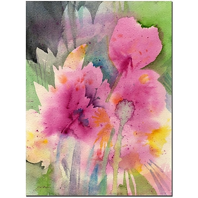 Trademark Fine Art Mouve Garden by Sheila Golden Canvas Art Ready to Hang