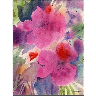 Trademark Fine Art Sheila Golden 'Pink Blossoms' Canvas Art 35x47 Inches