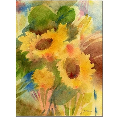 Trademark Fine Art Sheila Golden 'Garden Sunflowrs' Canvas Art 14x19 Inches
