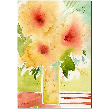 Trademark Fine Art The Yellow Vase by Sheila Golden Gallery-wrapped art