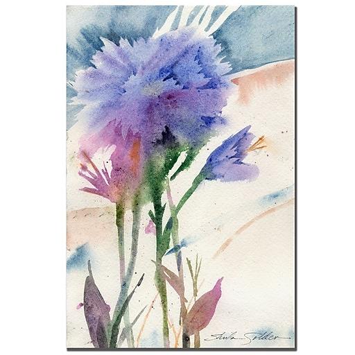 Trademark Fine Art Sheila Golden 'Blue Carnation' Canvas Art 16x24 Inches