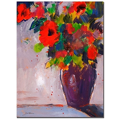 Trademark Fine Art Sheila Golden 'Fiesta II' Canvas Art 18x24 Inches