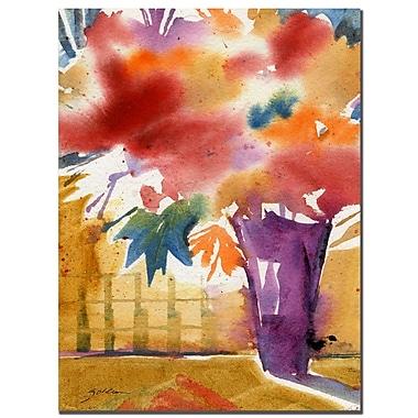 Trademark Fine Art Sheila Golden 'Ochre Wall' Canvas Art