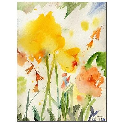 Trademark Fine Art Sheila Golden 'Garden Yellows' Canvas Art 24x32 Inches