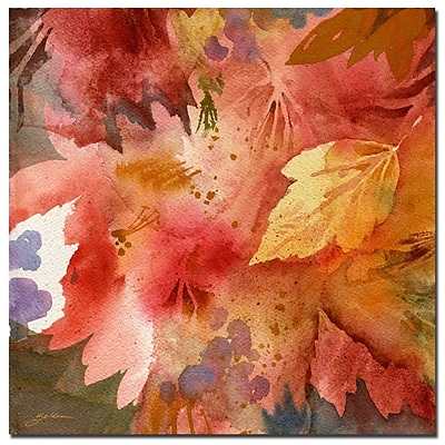 Trademark Fine Art Sheila Golden 'Autumn's Shadows' Canvas Art 14x14 Inches