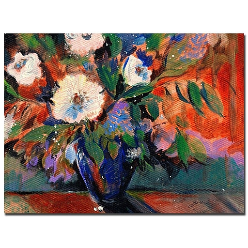 Trademark Fine Art Sheila Golden 'Cobalt Bouquet' Canvas Art