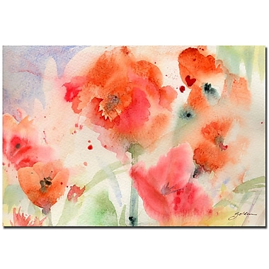 Trademark Fine Art Sheila Golden 'Flower Field' Canvas Art