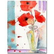Trademark Fine Art Sheila Golden 'Poppies in a Vase' Canvas Art