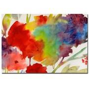 Trademark Fine Art Sheila Golden 'Rainbow Flowers' Canvas Art