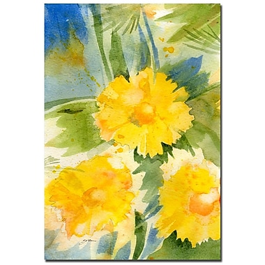 Trademark Fine Art Sheila Golden 'Wild Flowers' Canvas Art