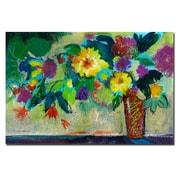 Trademark Fine Art Sheila Golden 'Green Bouquet' Canvas Art