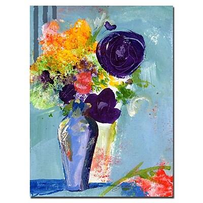 Trademark Fine Art Sheila Golden 'Purple Flowers' Canvas Art