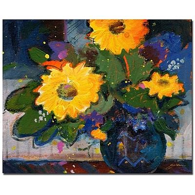 Trademark Fine Art Sheila Golden 'Tree Yellow Flowers' Canvas Art