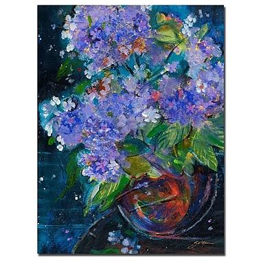 Trademark Fine Art Sheila Golden 'Bouquet in Violet' Canvas Art