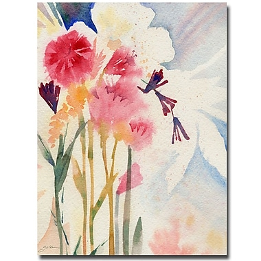 Trademark Fine Art Sheila Golden 'Garden Shadows' Canvas Art 18x24 Inches