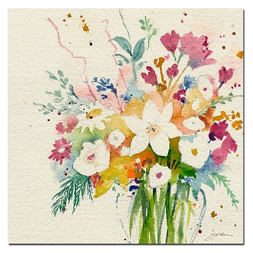 Trademark Fine Art Sheila Golden 'Dream Bouquet' Canvas Art 35x35 Inches