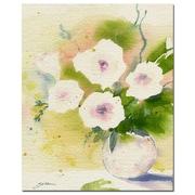 Trademark Fine Art Sheila Golden 'Flores in White' Canvas Art