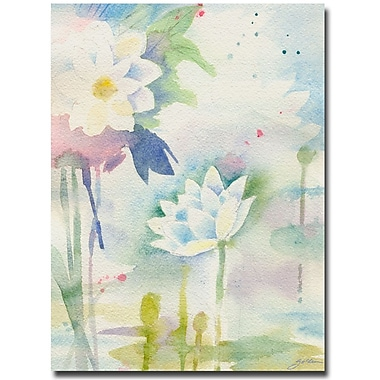 Trademark Fine Art Sheila Golden 'White Lotus' Canvas Art 35x47 Inches