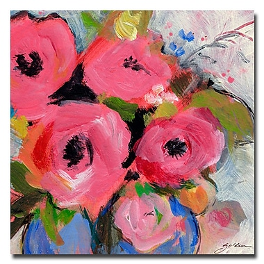 Trademark Fine Art Sheila Golden 'Bouquet in Pink' Canvas Art 18x18 Inches