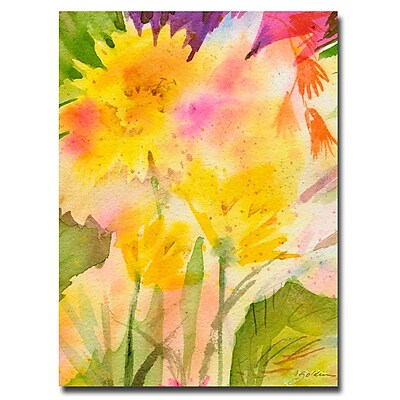 Trademark Fine Art Sheila Golden 'Springtime Floral' Canvas Art 18x24 Inches
