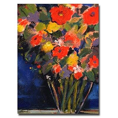 Trademark Fine Art Sheila Golden 'Blue Wall' Canvas Art 24x32 Inches