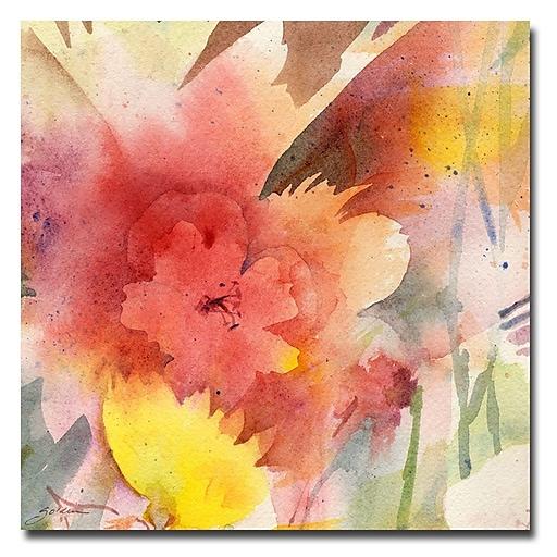 Trademark Fine Art Sheila Golden 'Hibiscus Shadow' Canvas Art 35x35 Inches