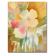 Trademark Fine Art Sheila Golden 'Ochre Garden View' Canvas Art 24x32 Inches