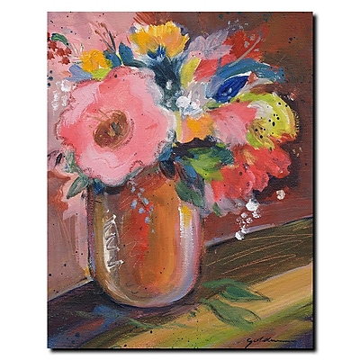 Trademark Fine Art Sheila Golden 'Copper Bowl' Gallery Wrapped Canvas Art 35x47 Inches