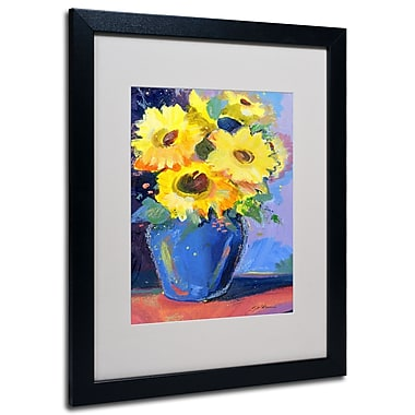 Trademark Fine Art Sheila Golden 'Sunflowers II' Matted Art Black Frame 16x20 Inches