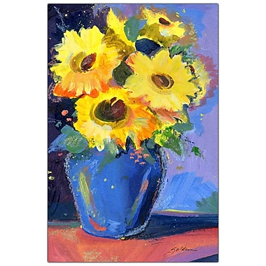 Trademark Fine Art Sheila Golden 'Sunflowers II' Canvas Art Ready to Hang 18x24 Inches