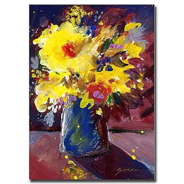 Trademark Fine Art Sheila Golden, 'Yellow Flowers' Canvas Art 35x47 Inches