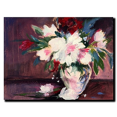 Trademark Fine Art Sheila Golden 'Homage to Manet' Canvas Art Ready to Hang 14x19 Inches