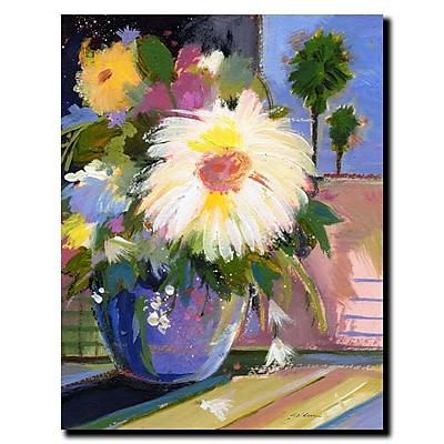 Trademark Fine Art Sheila Golden 'White Splash' Canvas Art Ready to Hang 18x24 Inches