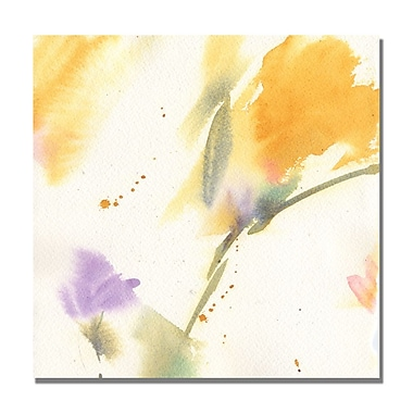 Trademark Fine Art Shelia Golden 'Flowers Abstract' Canvas Art 24x24 Inches