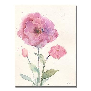 Trademark Fine Art Sheila Golden 'Camelia Blush' Canvas Art 18x24 Inches