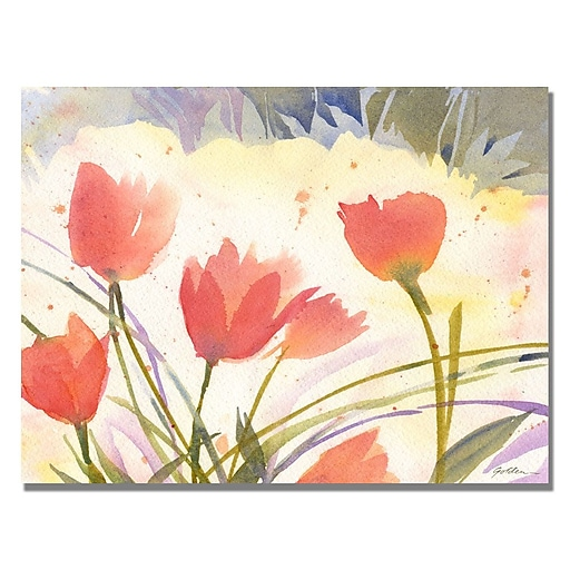 Trademark Fine Art Shelia Golden 'Spring Song' Canvas Art 24x32 Inches