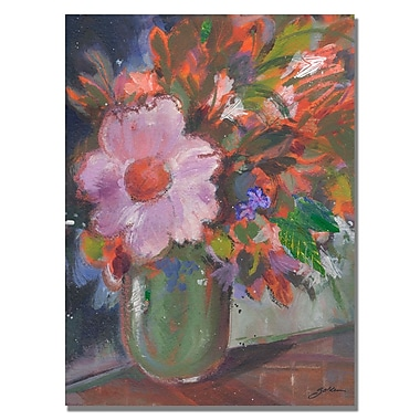 Trademark Fine Art Shelia Golden 'Starry Night Bouquet' Canvas Art 18x24 Inches