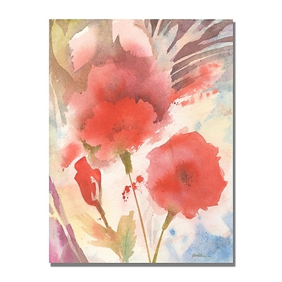 Trademark Fine Art Shelia Golden 'Red Echo' Canvas Art 24x32 Inches