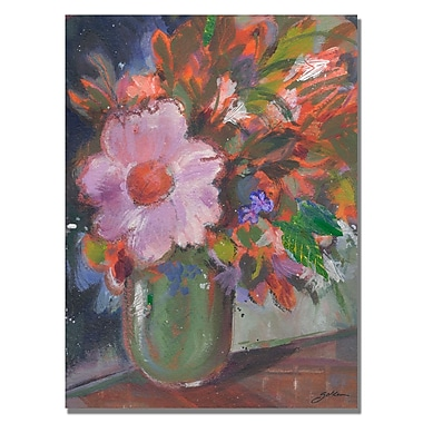 Trademark Fine Art Shelia Golden 'Starry Night Bouquet' Canvas Art 35x47 Inches