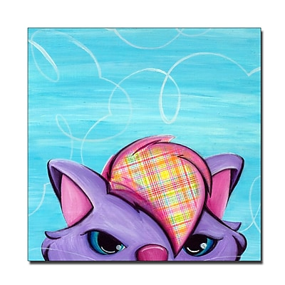 Trademark Fine Art Sylvia Masek 'Kitty' Canvas Art 18x18 Inches