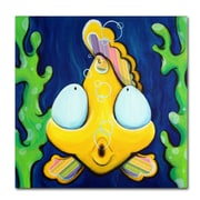 Trademark Fine Art Sylvia Masek 'Fish Bubbles' Canvas Art