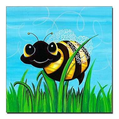 Trademark Fine Art Bee at Play by Sylvia Masek-Ready to hang Gallery Wrapped 35x35 Inches